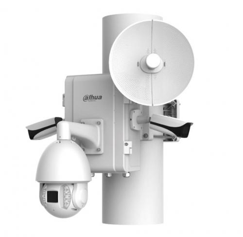 montaż monitoringu - zestaw kamer IP do monitorowania obiektu