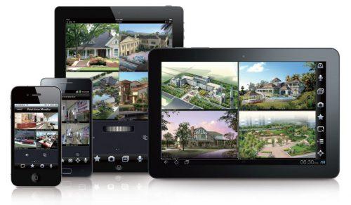montaż monitoringu IP - podgląd obrazu na urządzrniach zdalnych